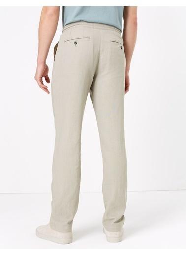 Marks & Spencer Keten Regular Fit Pantolon Gri